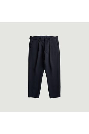 NN.07 Men Stretch Pants - Bill relax fit 7/8 length trousers Navy No Nationality 07