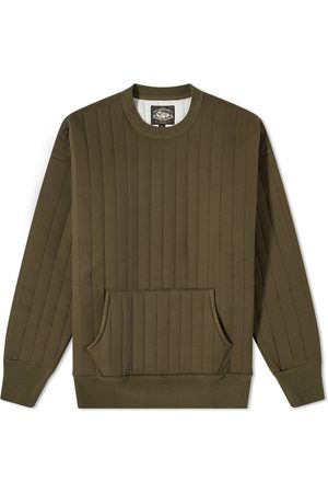 The Real McCoys Quilted Crew Sweat
