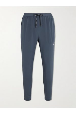 Nike Men Stretch Pants - Tapered Stretch-Shell Drawstring Running Trousers
