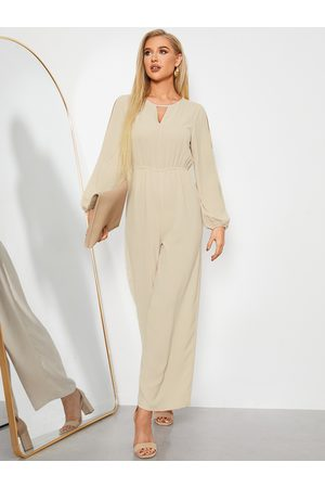 YOINS Cut Out Long Sleeves Stretch Waistband Jumpsuit