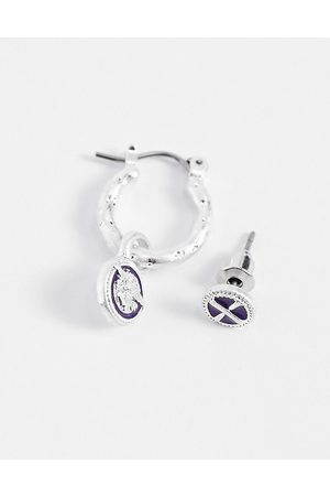 Icon Brand Hoop and stud earring set in
