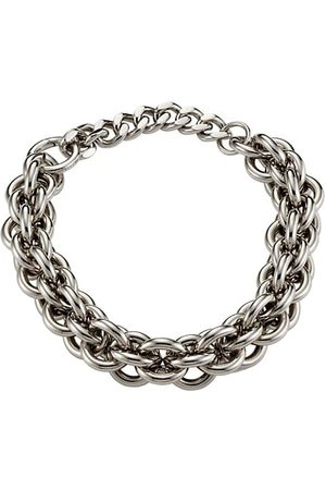 1017 ALYX 9SM Silver Tone Dual Chunky Chain Necklace