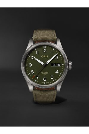 Oris Men Watches - TLP Big Crown ProPilot Limited Edition Automatic 44mm Stainless Steel and Ventile Watch, Ref. No. 01 752 7760 4287-Set