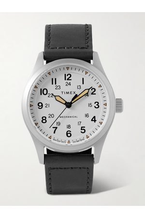 Timex Men Watches - Expedition North 38mm Hand-Wound Stainless Steel and Leather Watch