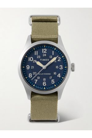 Timex Men Watches - Field Post Solar 41mm Stainless Steel and Recycled Webbing Watch