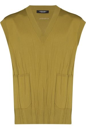 A-cold-wall* Crinkled knitted vest