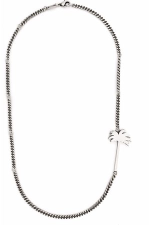 Palm Angels Palm Tree curb chain necklace