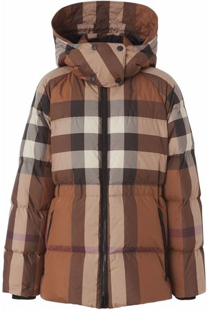 Burberry Check-print down-feather coat