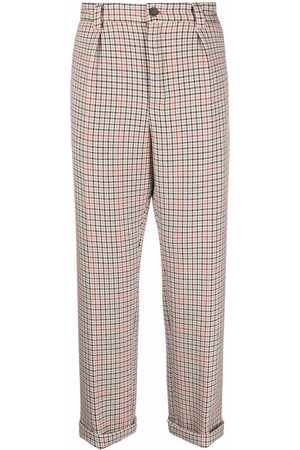 HUGO BOSS Checked cropped trousers