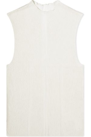 DION LEE Contrast Line Sleeveless Fitted Layer Top