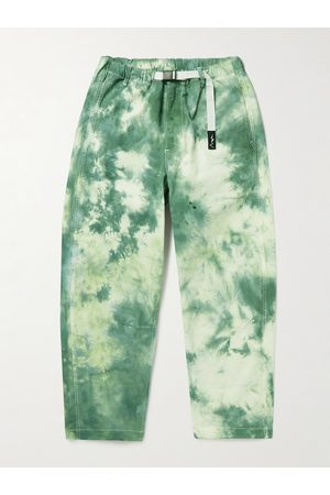 Manastash Tie-Dyed Cotton-Blend Twill Belted Trousers