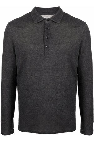 Majestic Filatures Fine-knit long-sleeved polo shirt