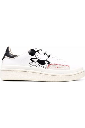 MOA MASTER OF ARTS Mickey-print leather trainers