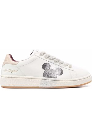 MOA MASTER OF ARTS Mickey-patch colour-block trainers