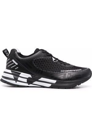 EA7 Men Sneakers - Panelled lace-up sneakers