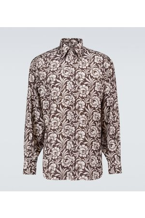 Tom Ford Floral printed long-sleeved shirt