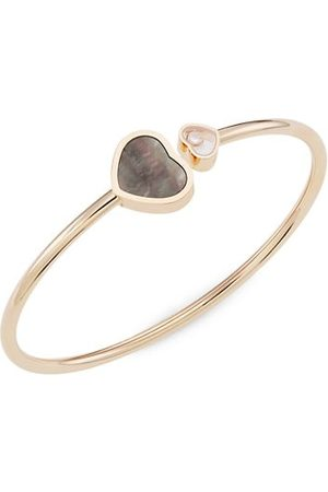 Chopard Happy Hearts 18K Rose Gold, Diamond & Mother-Of-Pearl Bangle