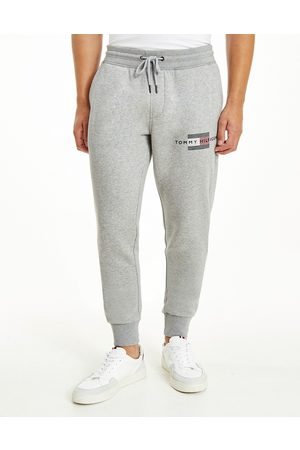 Tommy Hilfiger Icon lines flag logo cuffed joggers in