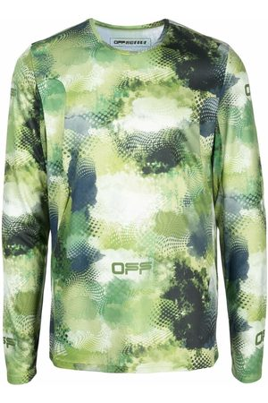 OFF-WHITE Abstract print long-sleeved T-shirt