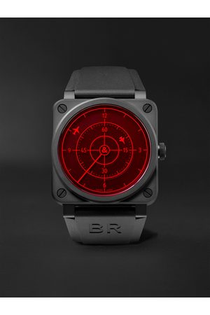 Bell & Ross Men Watches - BR 03-92 Red Radar Limited Edition Automatic 42mm Ceramic and Rubber Watch, Ref. No. BR0392-RRDR-CE/SRB