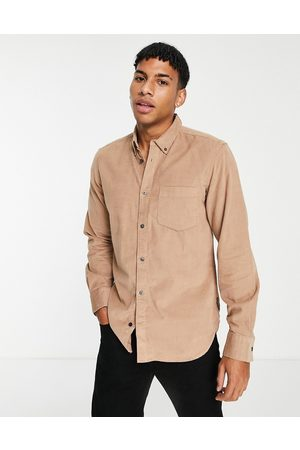 French Connection Long sleeve cord shirt in camel
