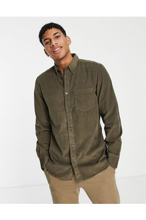 French Connection Long sleeve cord shirt in khaki