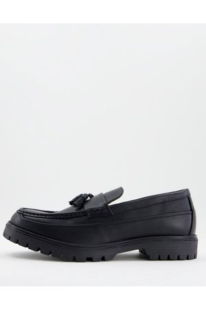 River Island Chunky sole loafers in