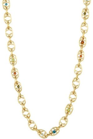 Gas Bijoux Alegria 24K Gold-Plated & Beaded Necklace