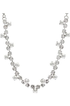 Area NYC Pearl & Crystal Choker Necklace