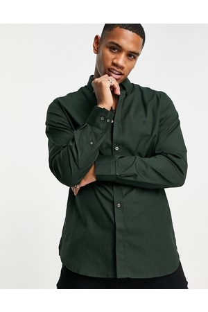 French Connection Long sleeve oxford shirt in solid dark
