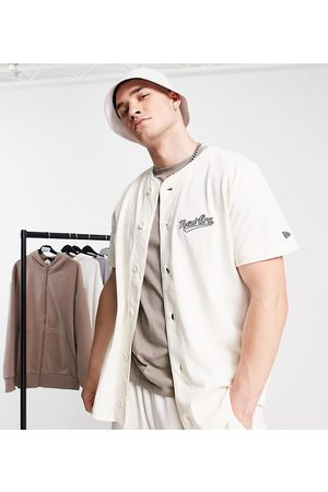 New Era Heritage baseball jersey in off - exclusive to ASOS