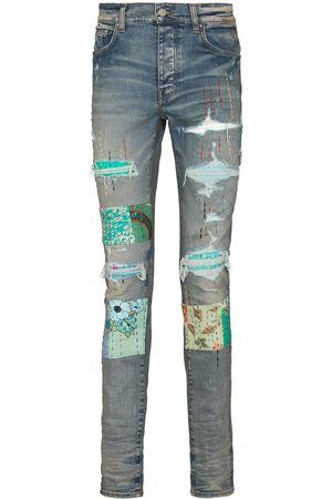 AMIRI Quilted patch-detail slim-fit jeans
