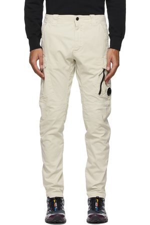 C.P. Company Off-White Stretch Sateen Cargo Pant