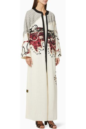 The Orphic Signature Canvas Abaya in Cotton