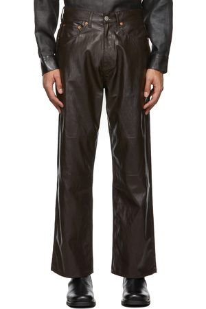 OUR LEGACY Extended Third Cut Faux-Leather Pants