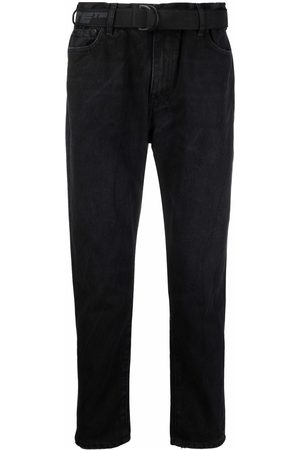 OFF-WHITE Belted tapered jeans