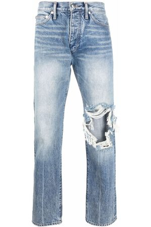 Rhude Ripped-detail jeans