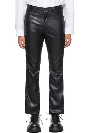 N. HOOLYWOOD Men Leather Pants - Synthetic Leather Pants