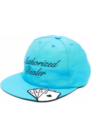 JUST DON Slogan-embroidered cap