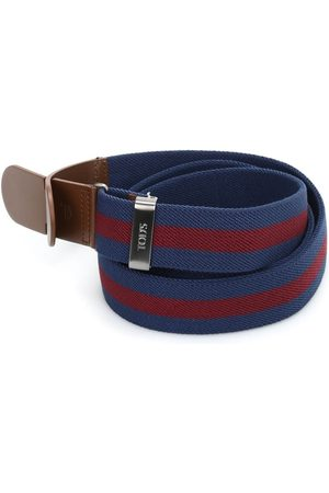Tod's CANVAS AND LEATHER BELT IN AND RED