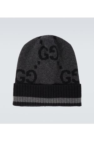 Gucci Men Hats - GG knitted cashmere hat