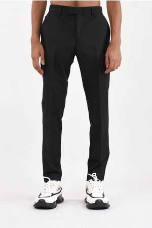 Les Hommes Pants with leather details
