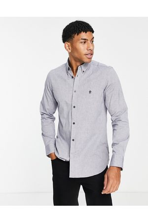 French Connection Long sleeve oxford shirt in