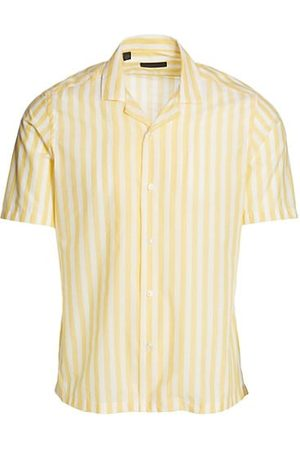 Saks Fifth Avenue COLLECTION Beach Stripe Woven Button-Up