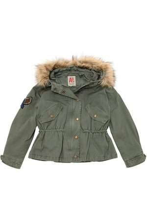 American Outfitters Hooded Cotton Canvas Puffer Jacket