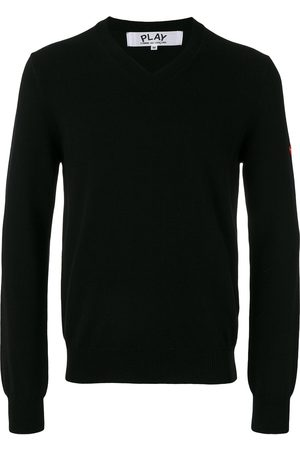 Comme des Garçons Embroidered heart patch sweatshirt
