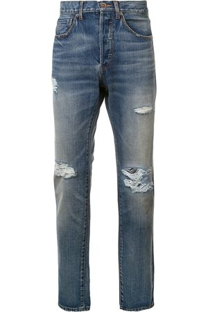 321 Distressed mid-rise jeans
