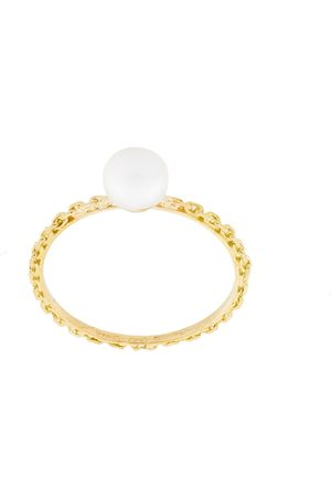 WOUTERS & HENDRIX 18kt yellow pearl and chain ring