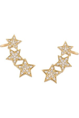 ALINKA Stasia diamond triple star earrings