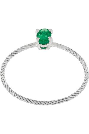WOUTERS & HENDRIX Emerald rope solitaire ring
